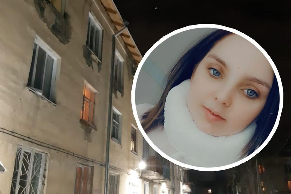 Огромный сугроб свалился на голову Марии с крыши дома. Фото: личный архив героя.