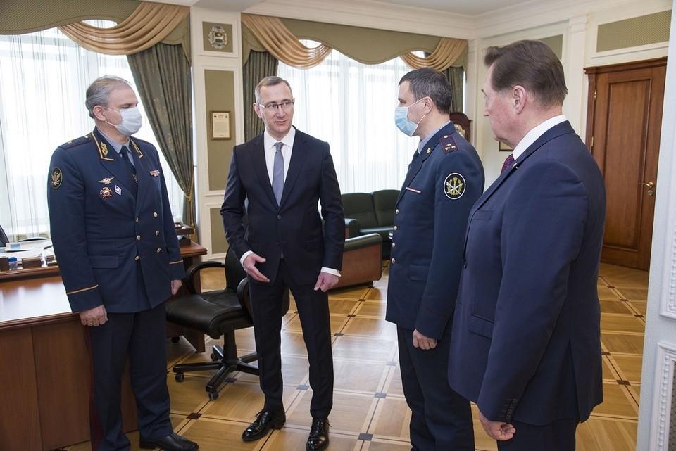 Снимок со встречи с губернатором.