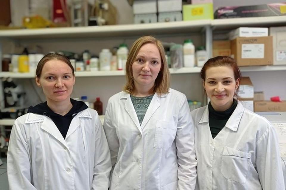 Анастасия (на фото в центре) получила премию вместе со своими коллегами. Фото: icg.nsc.ru