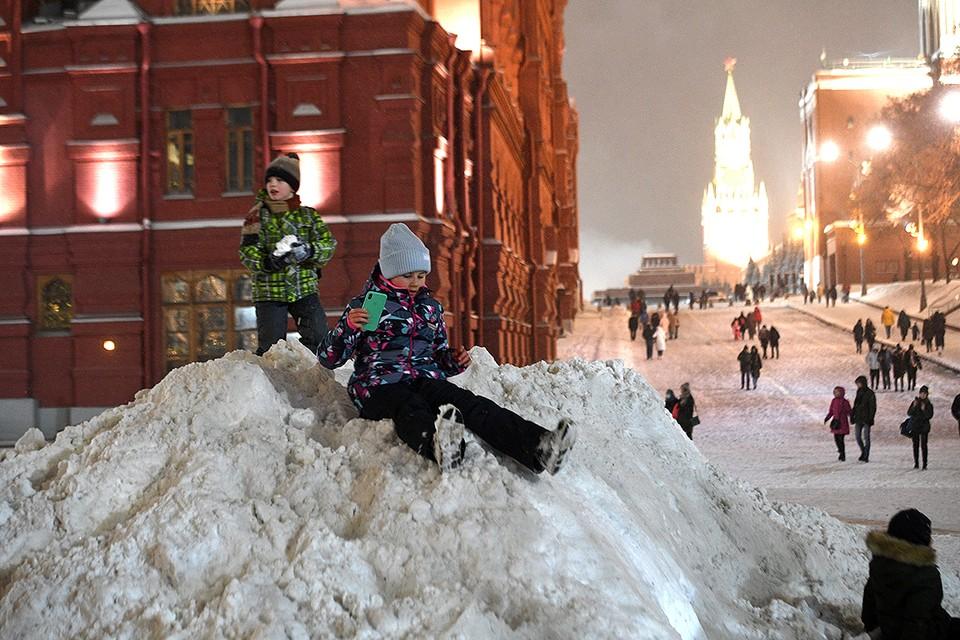В Москве опять вырастут сугробы.