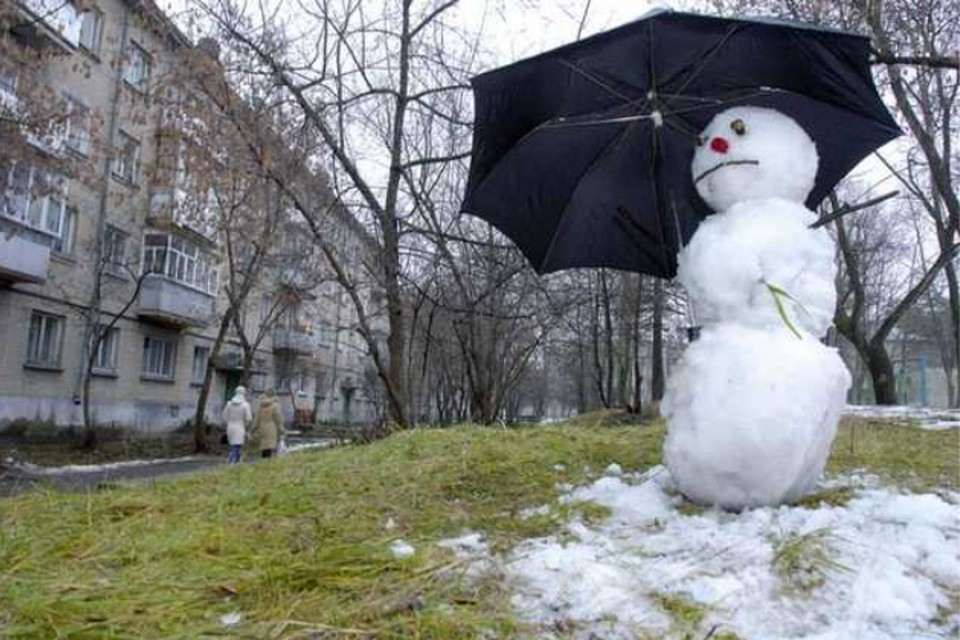 Солнце выглянуло, но зима еще не закончилась. Фото antikor.com.ua.