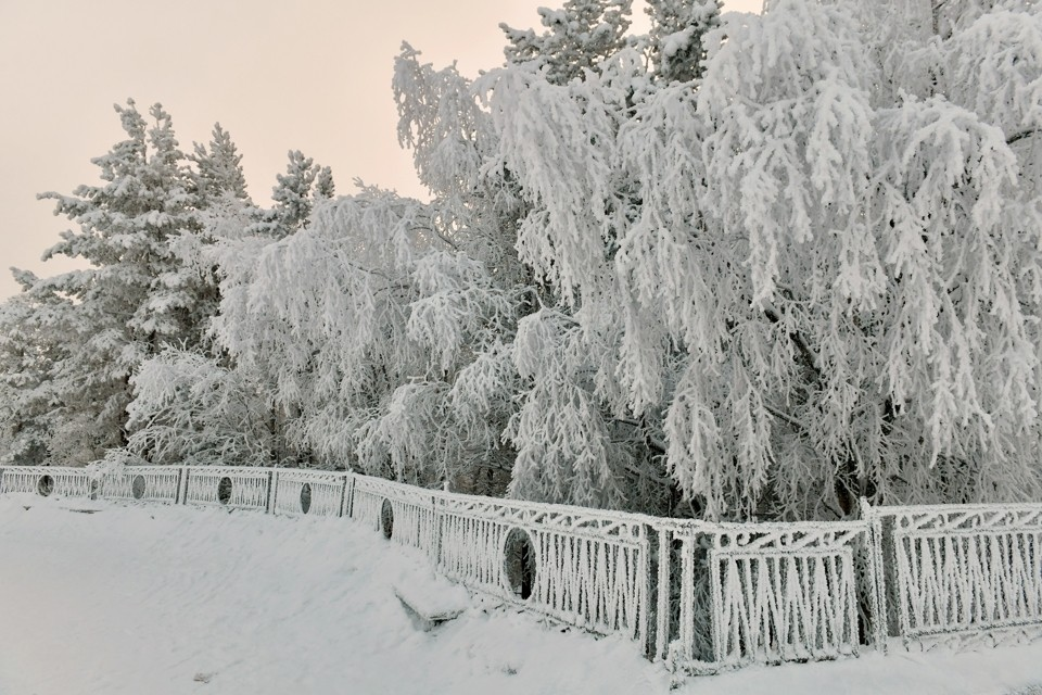 В регион пришли морозы.
