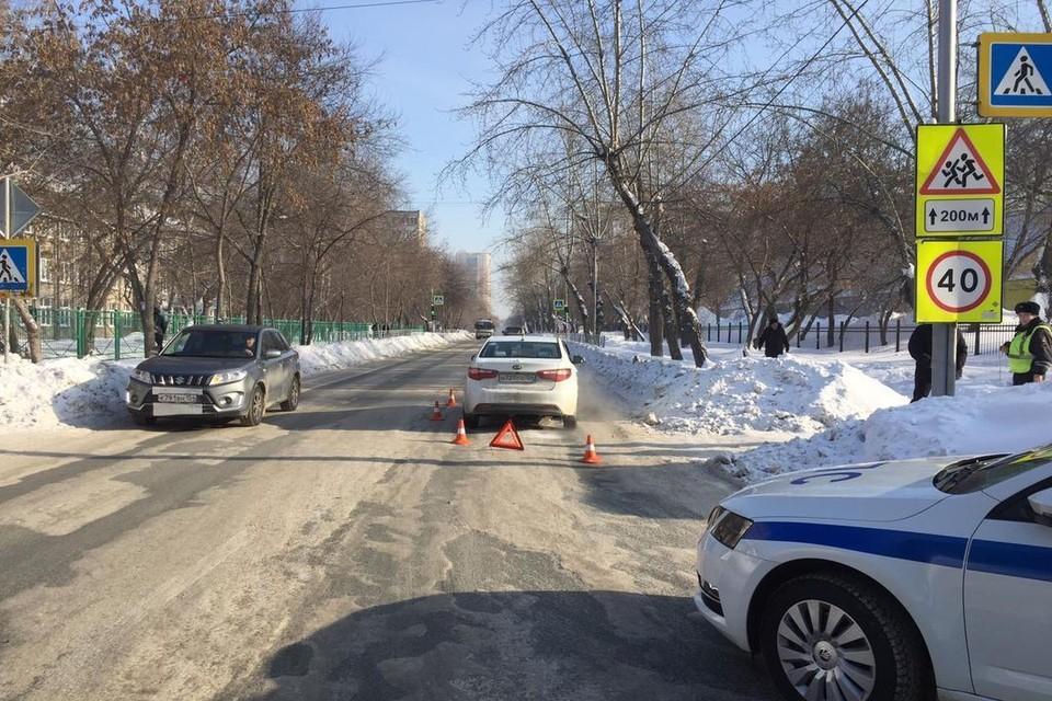 Иномарка сбила школьника на пешеходном переходе. Фото: Госавтоинспекция по Новосибирску