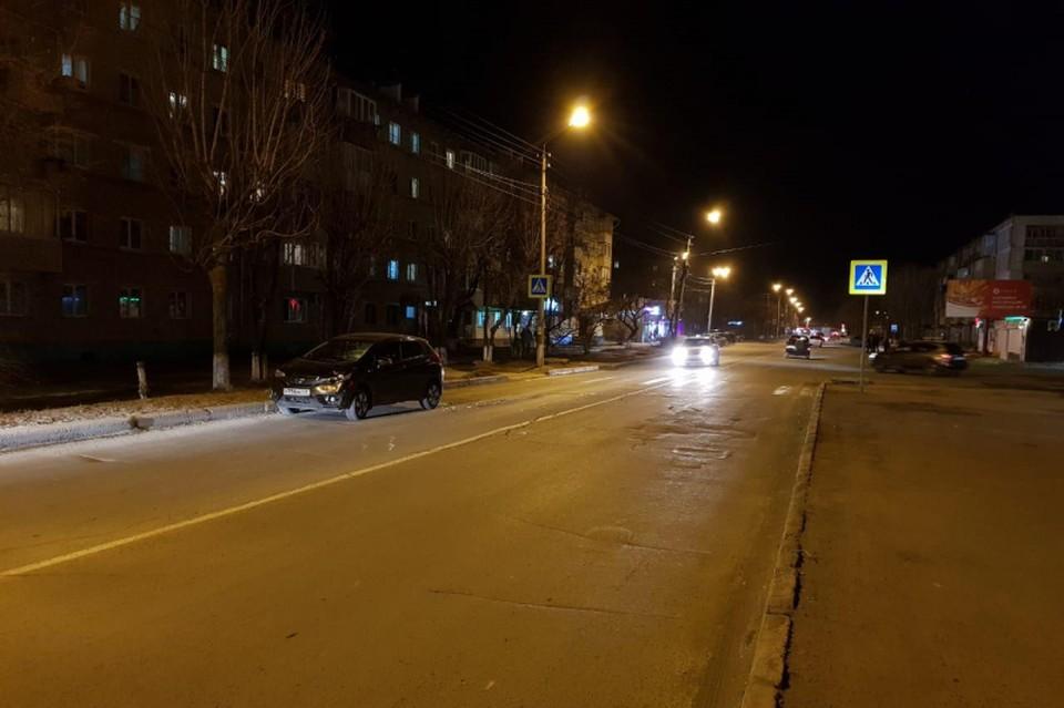 Переход в городе Находке, на котором нетрезвый водитель сбил насмерть пенсионерку. Фото: пресс-служба ОМВД России по городу Находке.
