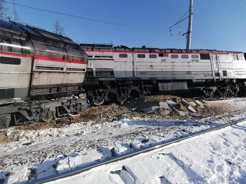 Были повреждены железнодорожные пути. Фото: www.instagram.com/rzhd_foto/
