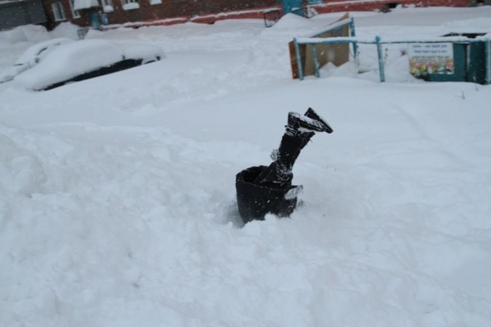 В Омске за день выпала столько снега, сколько могло бы выпасть за 10 дней.