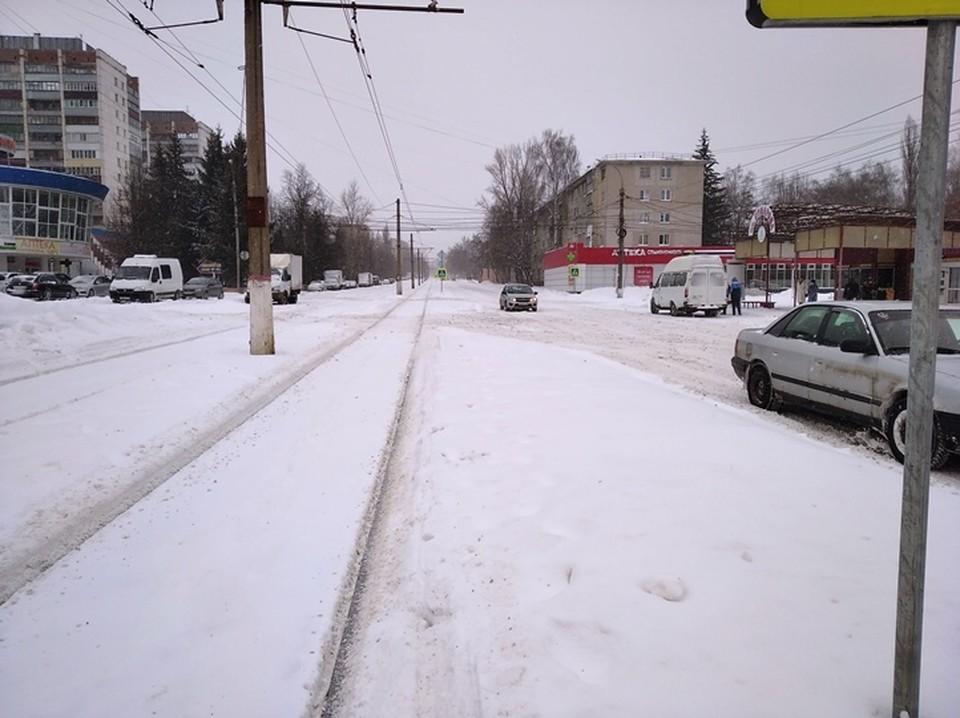 Снегопад вывел из строя трамвайное сообщение