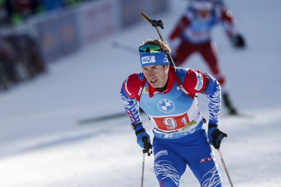 Эдуард Латыпов не помог команде выиграть медали в смешанной одиночной эстафете.