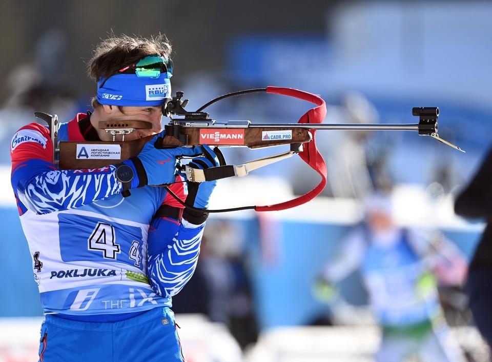 Эдуард Латыпов смог доехать третьим в эстафете.
