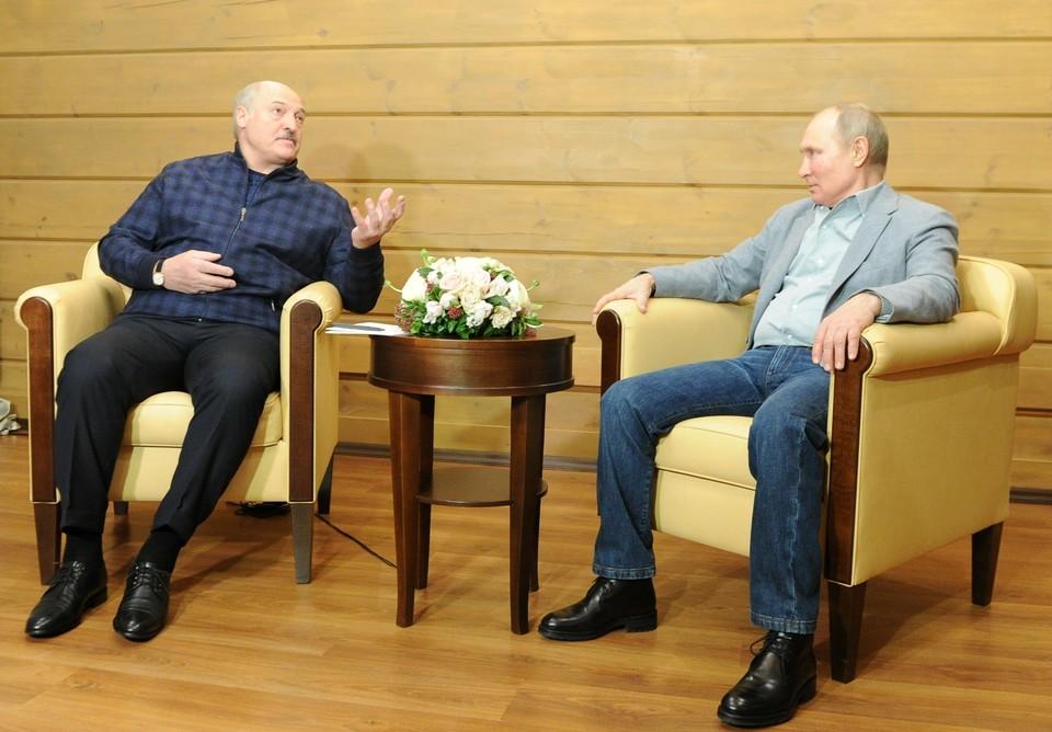 Рассказываем, о чем разговаривали Путин и Лукашенко в Сочи 22 февраля.