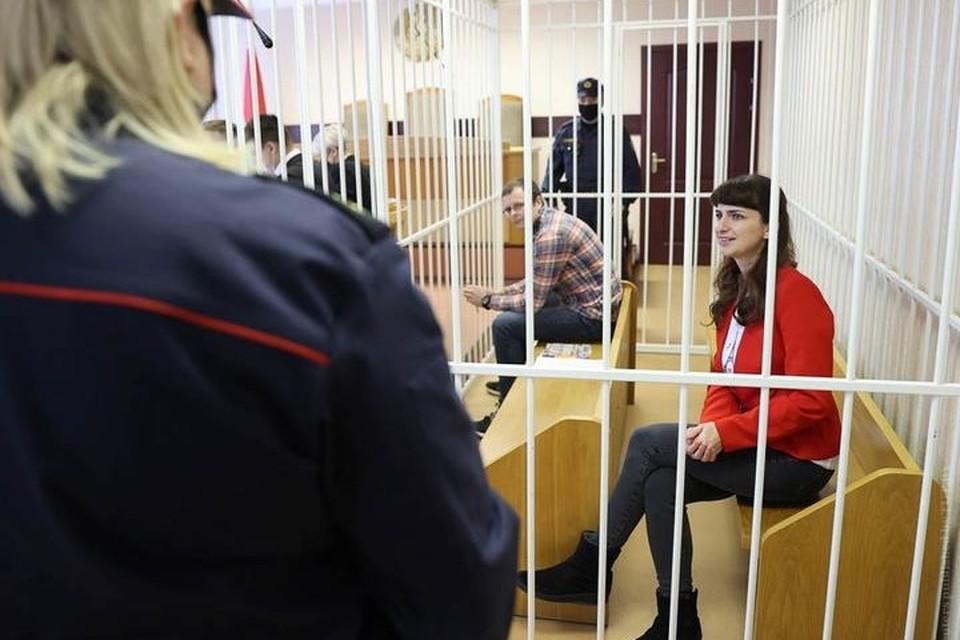 В Минске продолжается суд над Борисевич и Сорокиным. Фото: Belta via Reuters