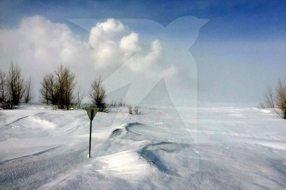 Взрыв произошел во вторник, 23 февраля, на в районе села Мухраново, Оренбургская область. Фото предоставлено КП очевидцем
