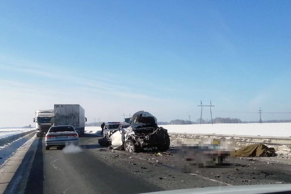 Под Новосибирском произошла страшная авария. Фото: «АСТ-54»