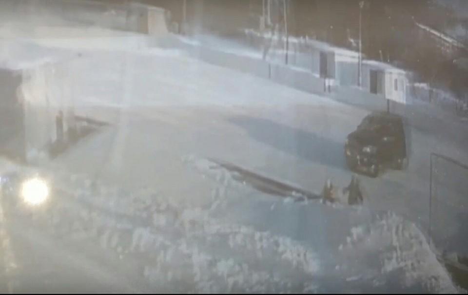 Все происходящее попало на запись камеры наблюдения. Фото: скриншот видео (vk.com/nadejdinoo)