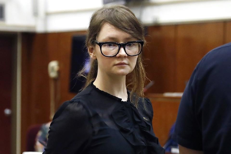 Анна Сорокина во время суда.