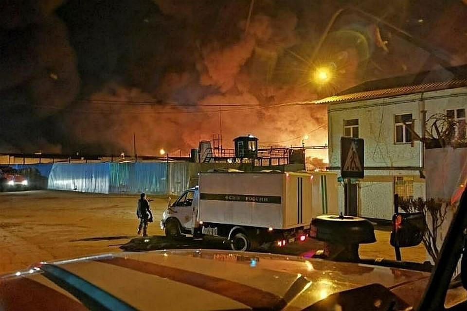 Пожар в ангарской ИК №15 в апреле 2020 года. Фото: очевидцы