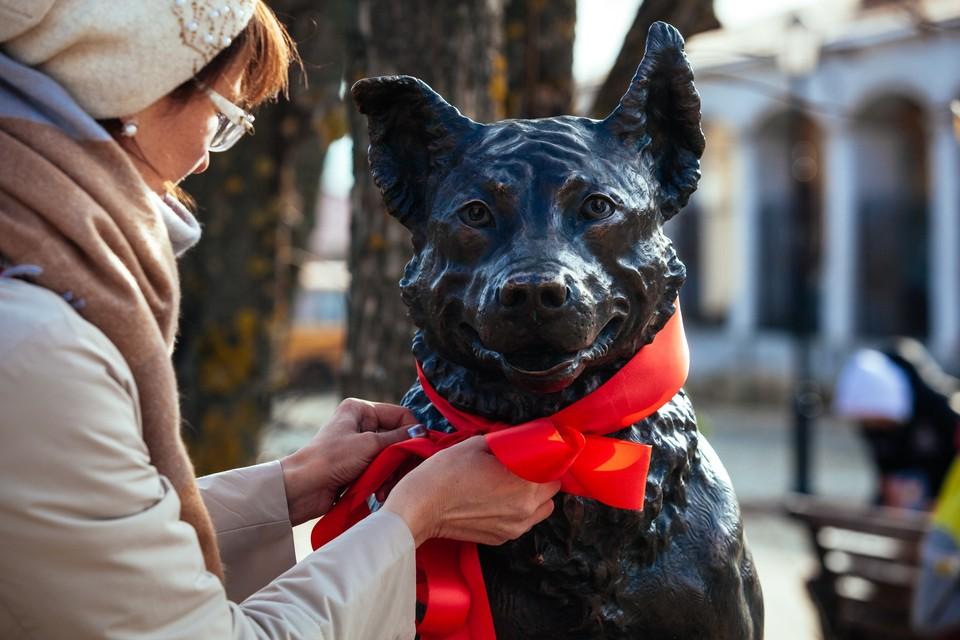 В Ярославской области установили памятник псу, который из бездомной дворняги превратился в пограничника