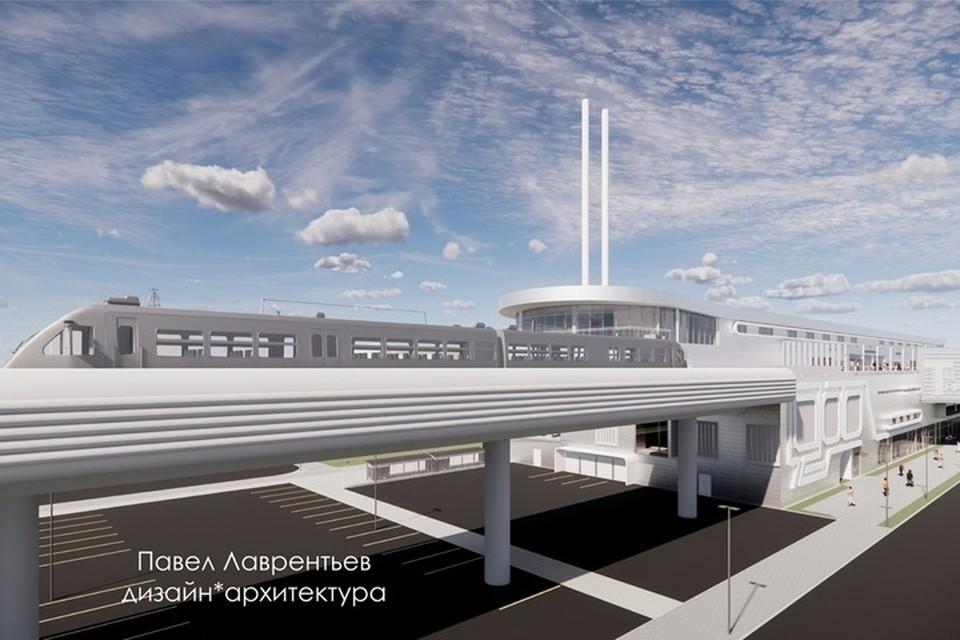 По словам авторов идеи, к строительству можно будет приступить уже в ближайшее время. Фото: Новое Метро Петербурга - надземное.