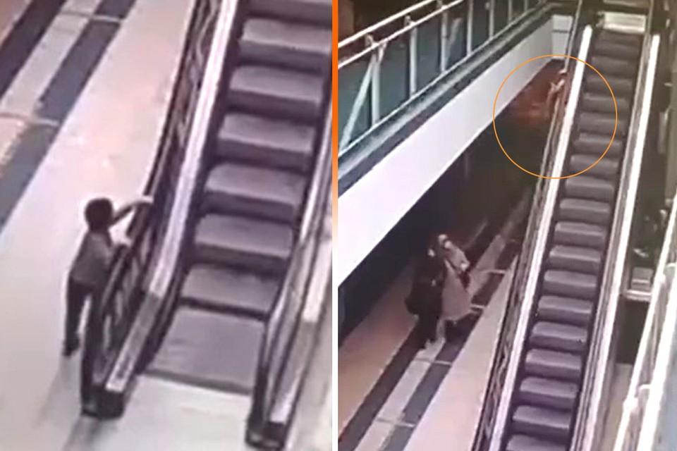 Мать мальчика заявила, что не заметила, как сын отбежал к эскалатору.