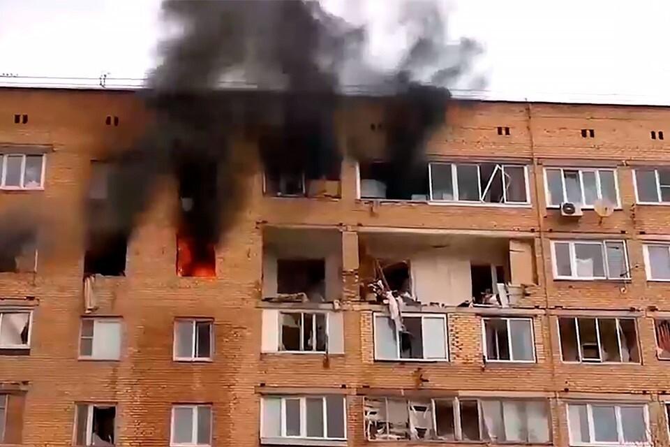 В Химках в жилом доме прогремел взрыв. Фото: Кадр видео