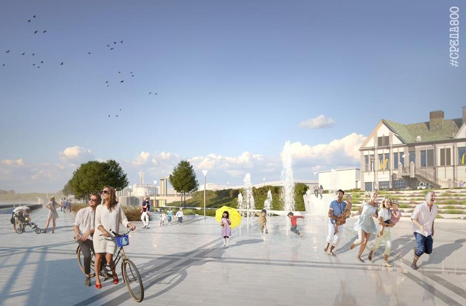 Интерактивный фонтан появится на Нижневолжской набережной в 2021 году