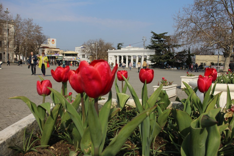 В Севастополе тепло до +12°.