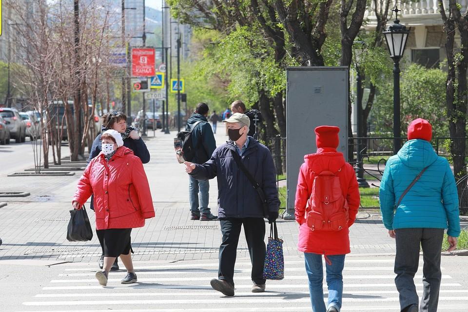 В Красноярске за неделю оштрафовали 55 нарушителей масочного режима