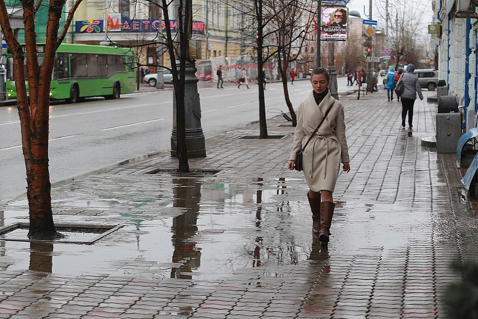 На первых выходные апреля в Красноярске ожидаются дожди и +7 градусов