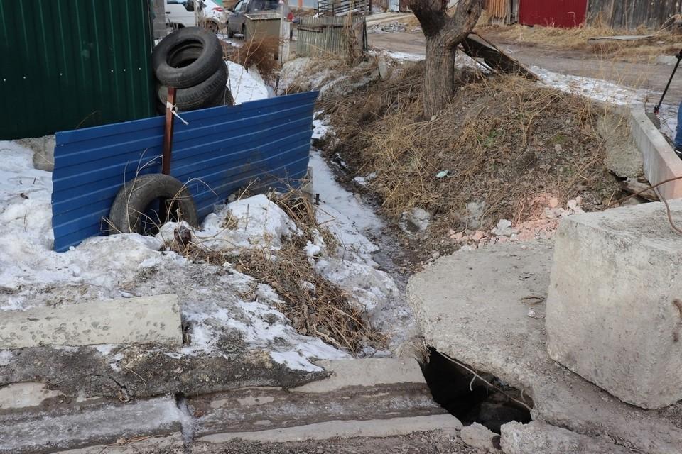 В Красноярске в Покровке может затопить дома весенним паводком. Фото: пресс-служба администрации города