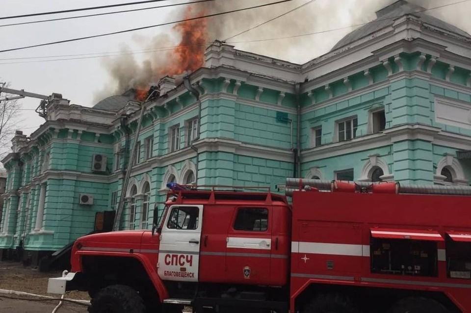 Пожар продолжался больше двух часов. Фото: прокуратура Амурской области