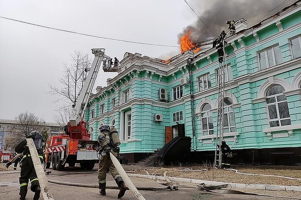 Пожар в Благовещенском кардиоцентре