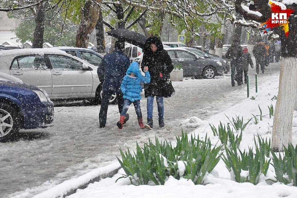 Снегопад в апреле в Молдове уже бывал.