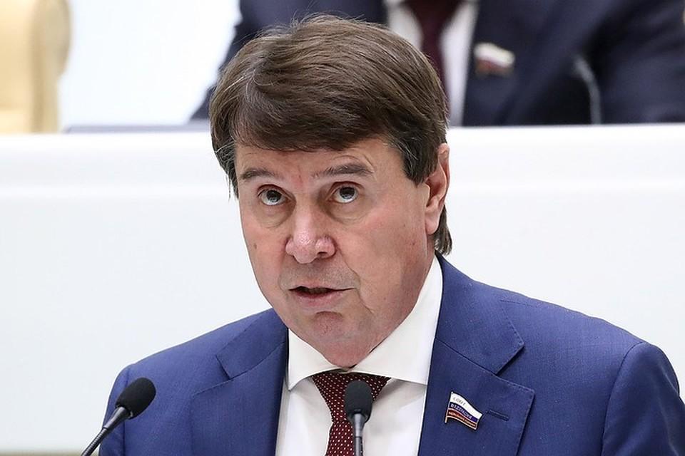 Сергей Цеков во время выступления на пленарном заседании Совета Федерации РФ. Фото: Валерий Шарифулин/ТАСС