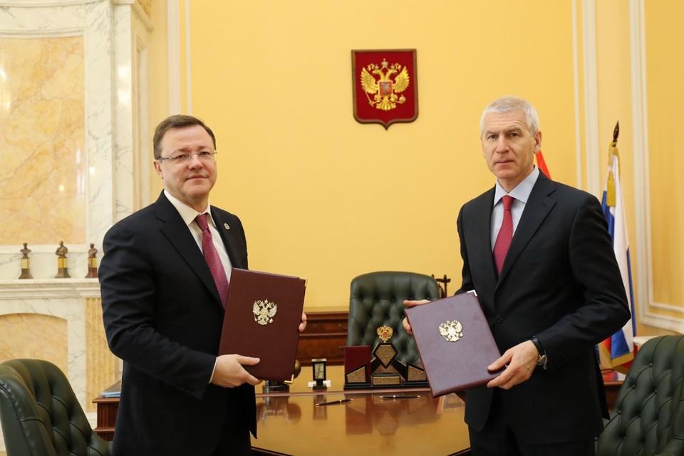 В Минспорте РФ заключили соглашение с Самарской областью о развитии массового спорта. Фото - предоставлено правительством Самарской области