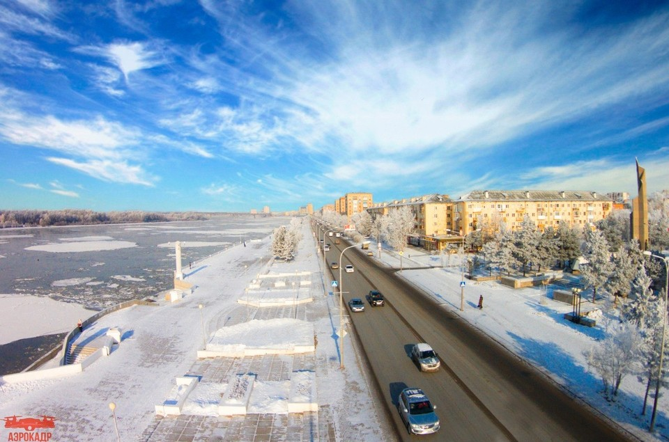 В марте содержание ртути в Иртыше в районе поселка Черлак превышало норму в 19 раз! ФОТО: Аэрокадр