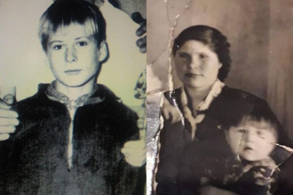 В семейном архиве сохранились редкие фотографии Виктора и его мамы с детьми. Фото: предоставлено Ольгой Беловой.