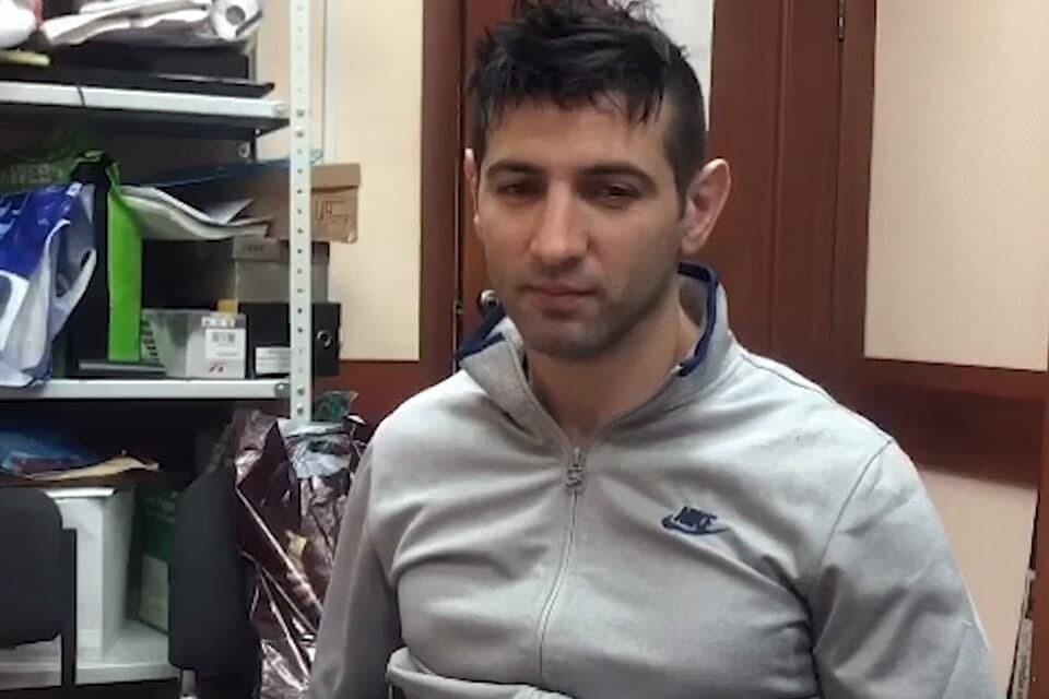 Задержанный за убийство криминального авторитета в Москве Матлаб Султанов. Фото: кадр из видео СК