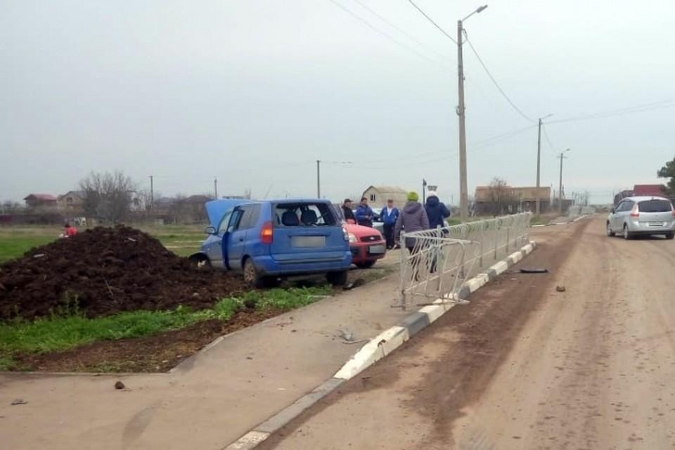 Подросток сбил не только пенсионера, а еще и машину. Фото: пресс-служба МВД по РК