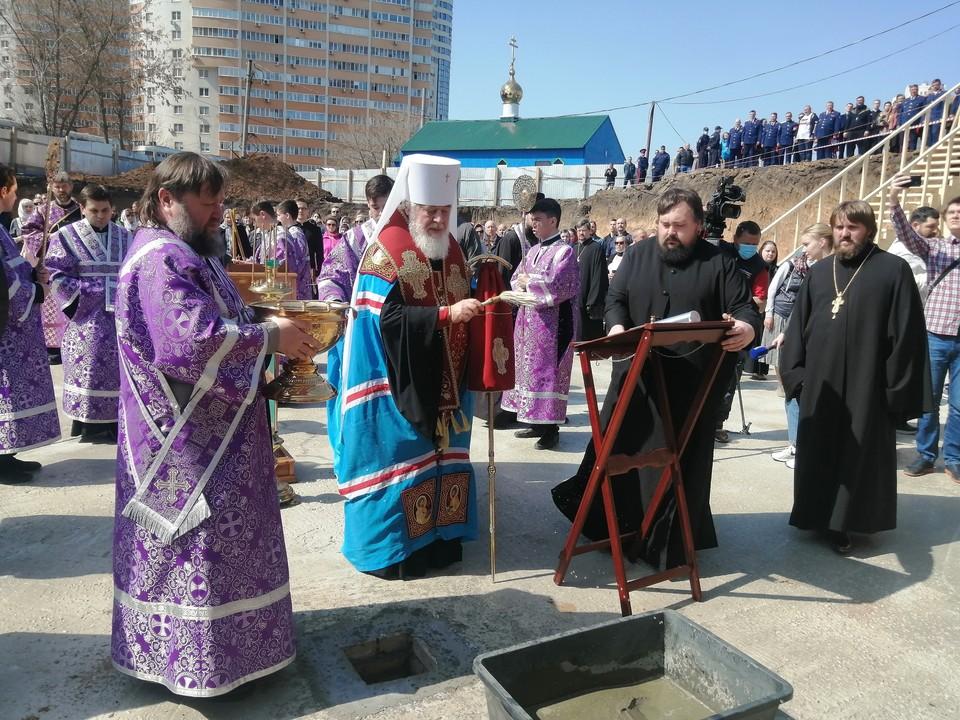 В Самаре освятили фундамент будущего детского епархиального образовательного центра