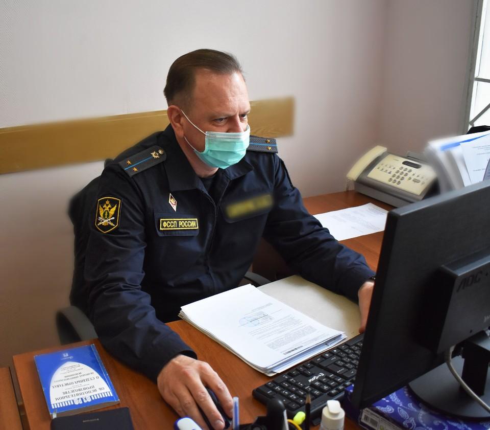 Мужчине нельзя было покидать место жительства с 22 до 6 часов утра, но он неоднократно нарушал установленный запрет. Фото пресс-службы УФССП России по Белгородской области.