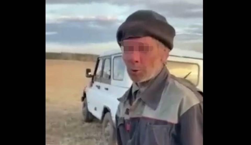 Пастух уснул с сигаретой и едва не спалил лес в деревне под Иркутском. Фото: скрин с видео ГУ МЧС России по Иркутской области.