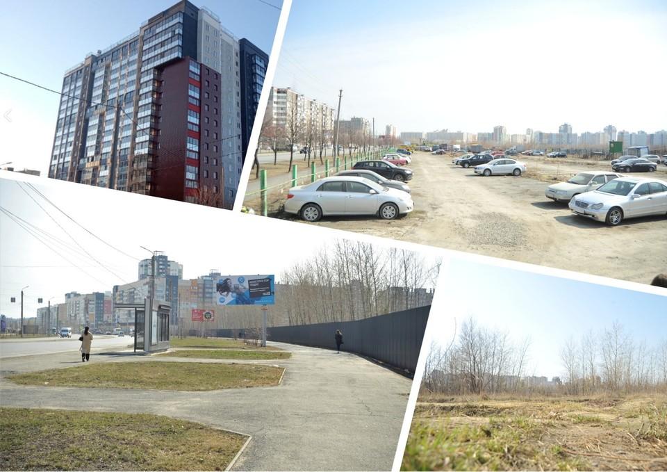 Вот так сейчас выглядит 29 микрорайон: пара домов, стоянки и заборы. Фото: Кирилл Садыков, ЖК Макеев/vk.com