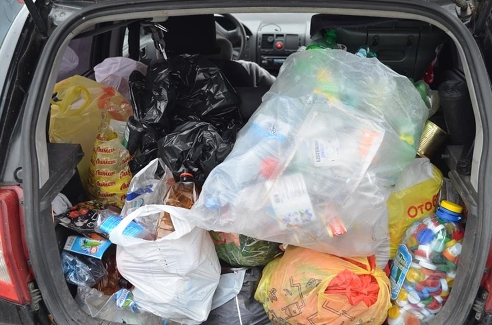 Половина собранного добровольцами мусора идет на переработку
