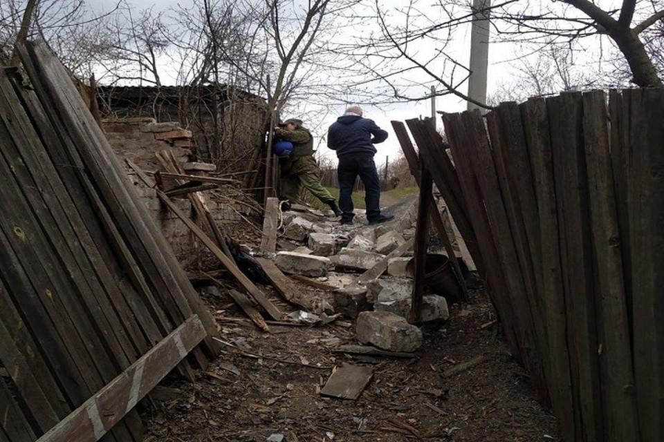 Обстрел в Горловке 19 апреля 2021 года. ФОТО: СЦКК