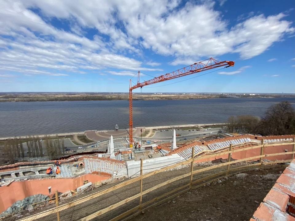 В Нижнем Новгороде реконструируют Чкаловскую лестницу