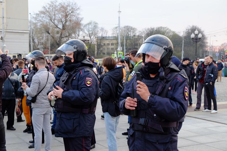 Несанкционированный митинг на площади Победы