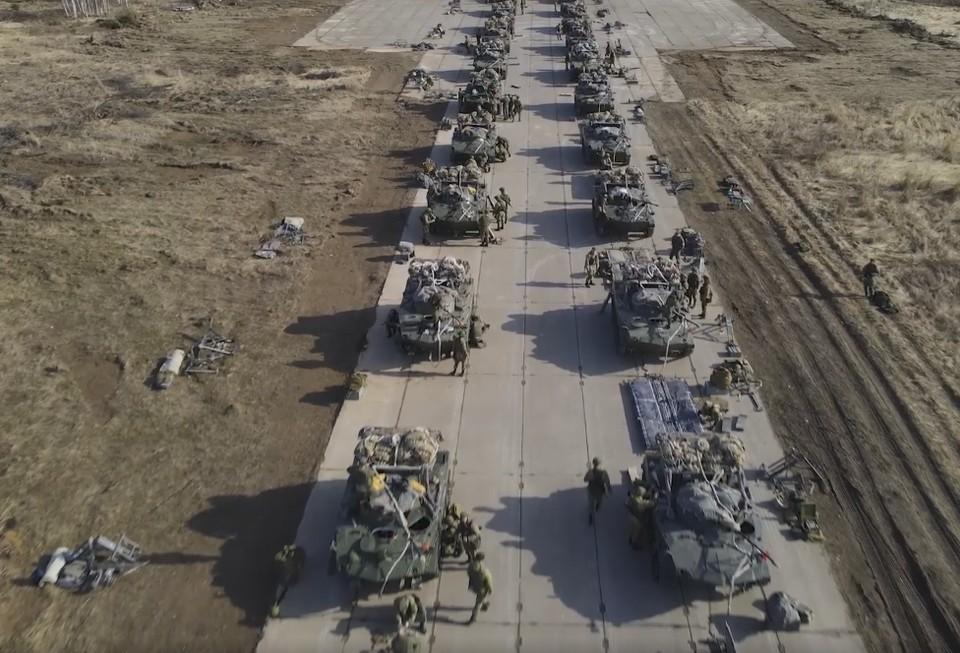 Часть военных формирований уже прибыла. Фото: скриншот из видео Минобороны РФ