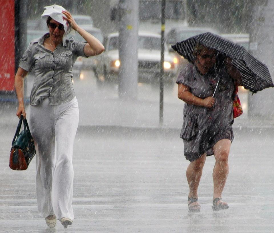 Днем дожди, местами грозы, в отдельных районах град.