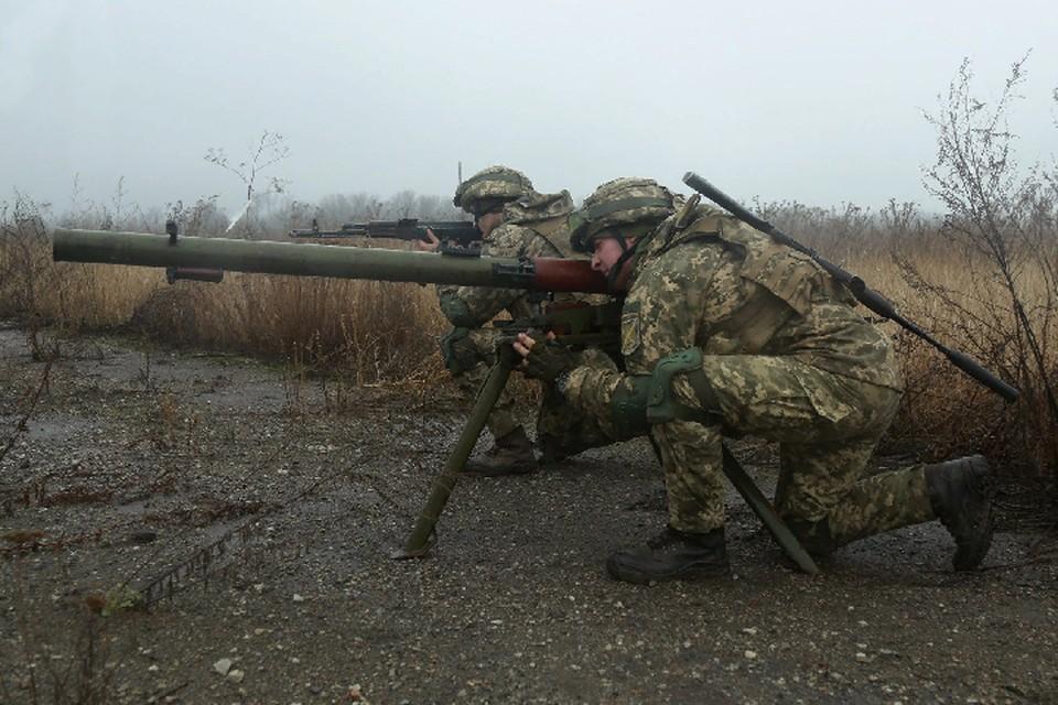 По поселку в Донецке ВСУ стреляли из автоматического гранатомета. Фото: штаб «ООС»