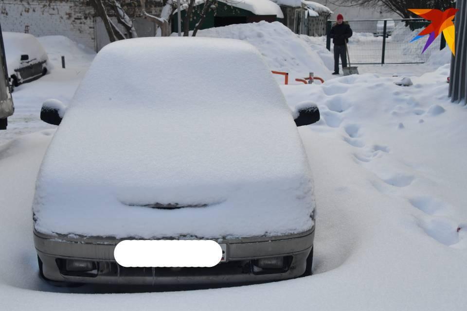 В Мурманской области снова снегопад.